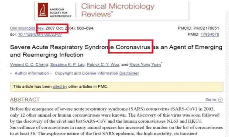 """Coronavirusul, prevazut oficial inca din 2007! """"Pai daca mancati lilieci mici cu potcoava, ce-ati vrea???"""""""