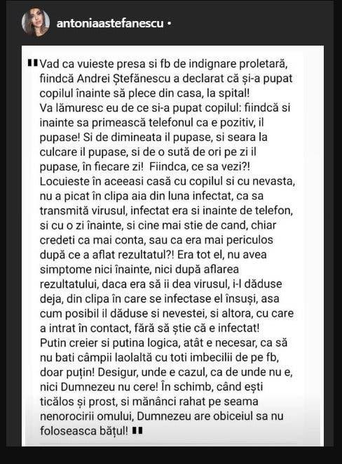 mesaul sotiei lui Andrei Stefanescu