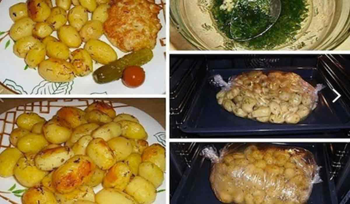 Reteta zilei: Cartofi la cuptor cu usturoi. Buni ca garnitura, dar si in post