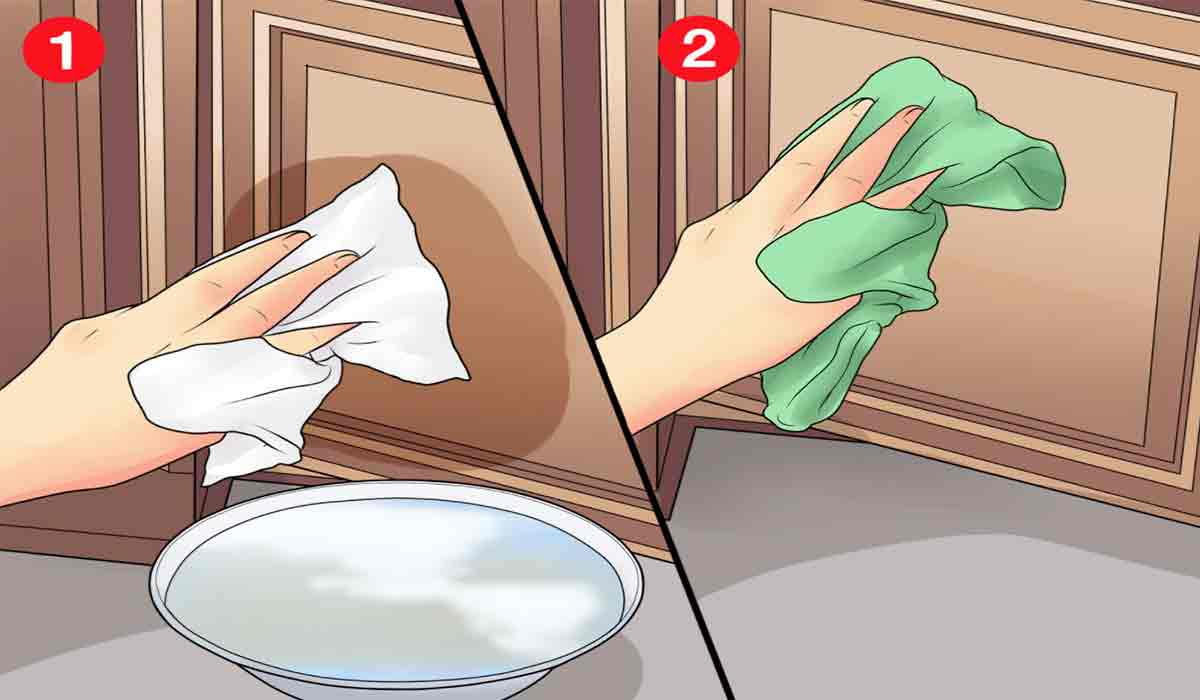 Cum sa cureti dulapurile din bucatarie, stropite cu grasime