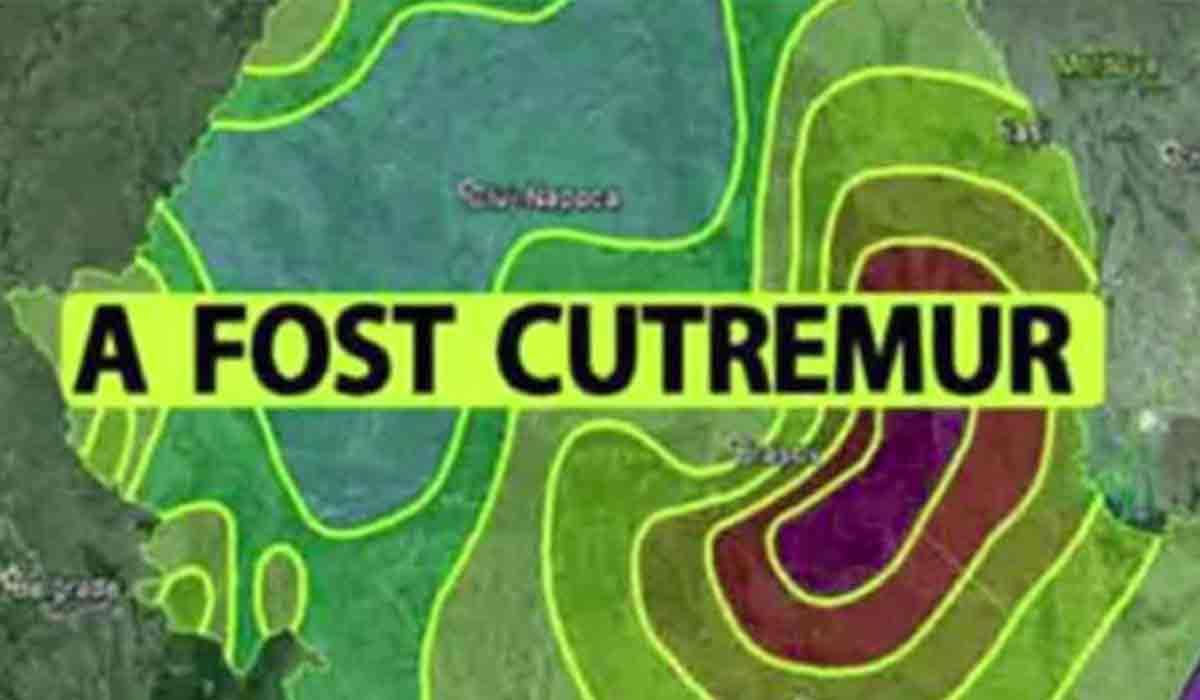Cutremur neobisnuit in Romania, astazi. Unde s-a produs si ce magnitudine a avut.
