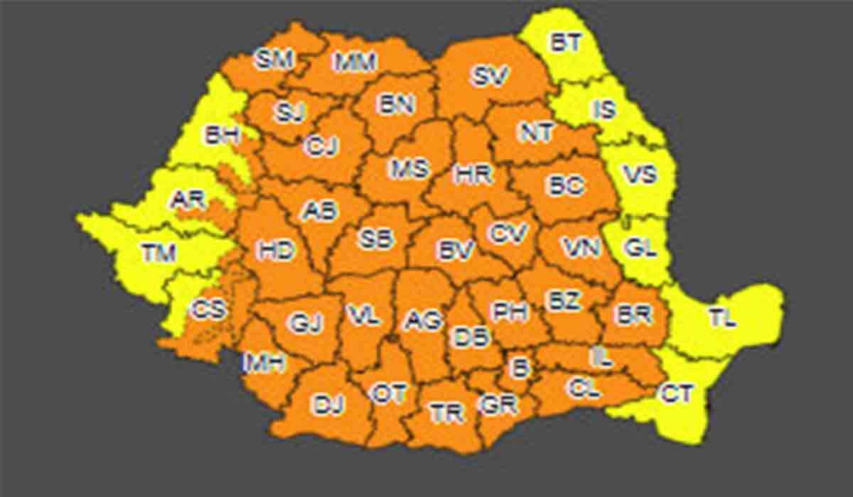 Alerta ANM: Romania, lovita de ploi si vijelii. Zonele afectate