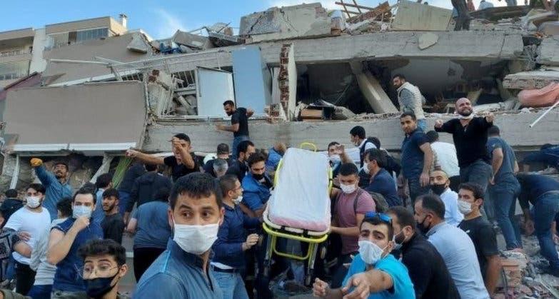 Imagini apocaliptice din Turcia si Grecia, dupa cutremurul devastator de 7 grade. 1