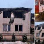 Incendiu puternic la un camin de batrani, la granita cu Romania.15 persoane au decedat